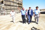The Head of Real Estate Fund Samruk-Kazyna B.Mamytaliyev has visited Shymkent city for inspection of Construction site of Residential complex
